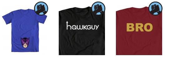 Hawkguy t-shirts