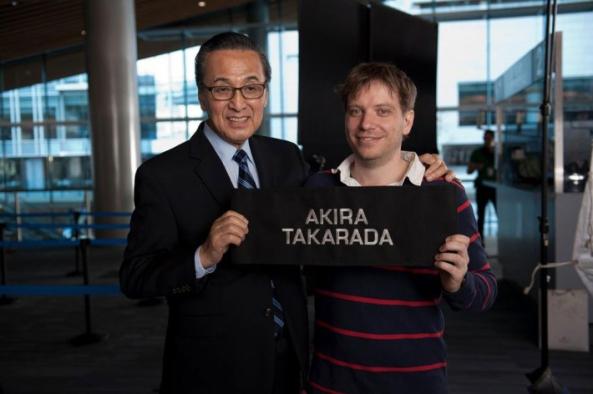 Akira Takarada - Godzilla 2014 set