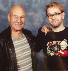 Nerd-Base founder Christopher with Sir Patrick Stewart.