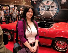 Me in front of 'Lola' - the famous car from Marvel's Agents of S.H.I.E.L.D