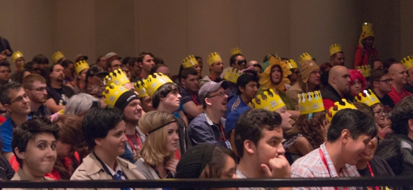 Fans at the full NYCC panel