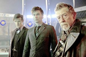 Matt Smith, David Tennant, and John Hurt in 'The Day of the Doctor'
