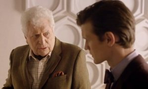Tom Baker and Matt Smith in The Day of the Doctor.