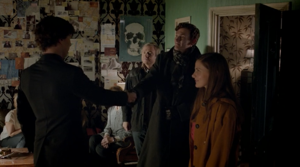 Molly introduces her Sherlock lookalike fiancé