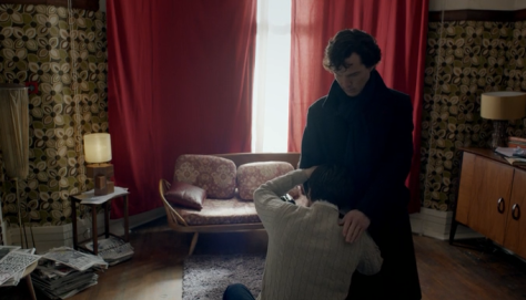 Anderson begging Sherlock for forgiveness. Or is it all in his head?
