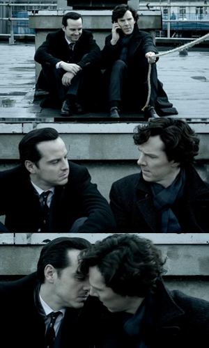 The very hilarious, unexpected scene in Sherlock