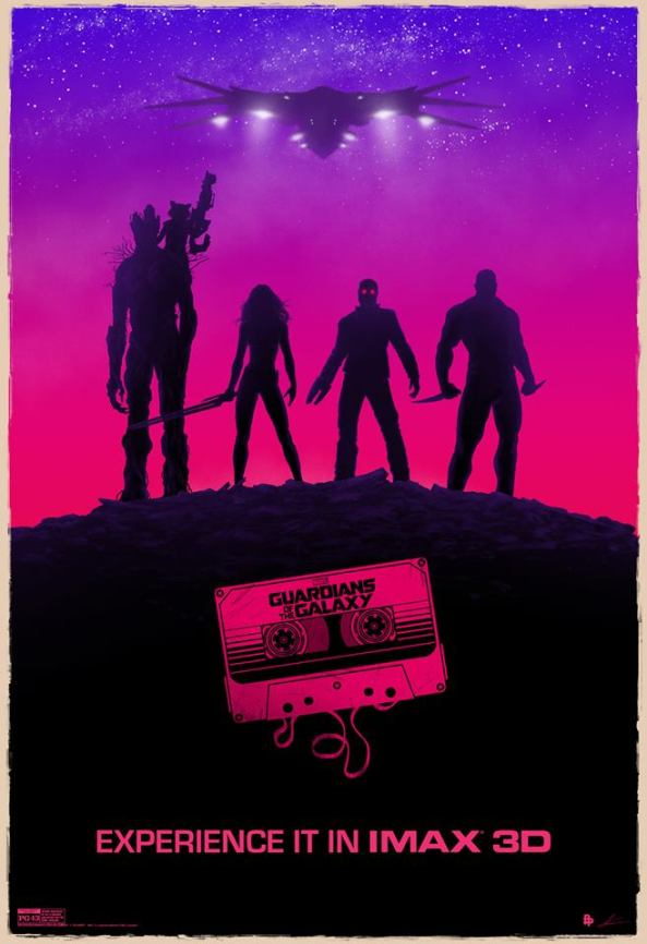 Guardians of the Galaxy poster you'll receive if you see the movie in IMAX 3D at a midnight showing!