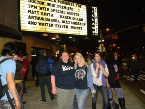 Doctor Who screening with my friend Erin back in April 2011.