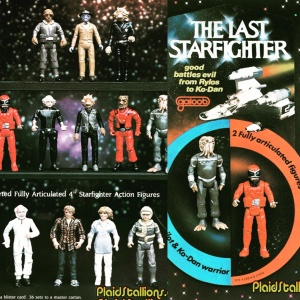 Toy Company Galoob had proposed a line of Last Starfighter toys, alas, never put into production since the movie wasn't the hit they'd banked on.