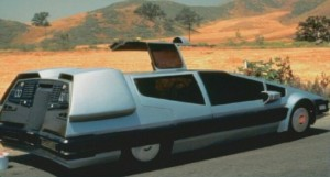 Centauri's Star Car! The Delorean was very popular in the 80s and makes another sci-fi appearance here.